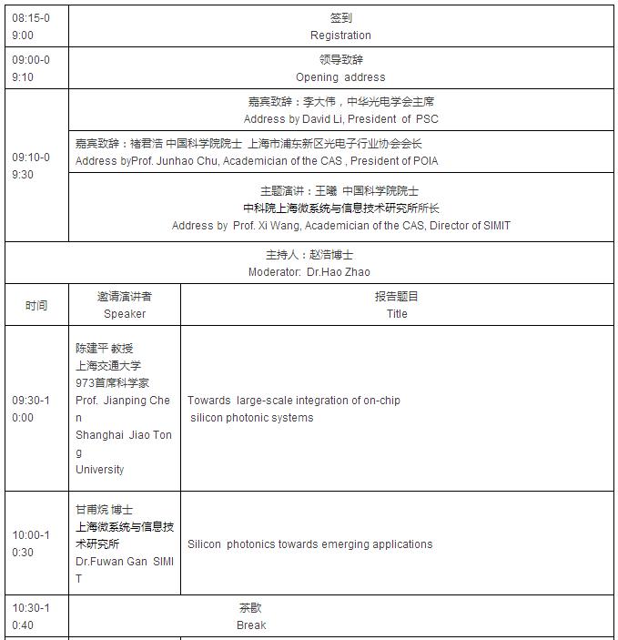国际硅基光电子学研讨会,湖南卫视小年夜fx